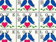 1990 - DOVES - LOVE - #2440 Full Mint -MNH- Sheet of 50 Postage Stamps