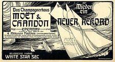 Das Champagnerhaus Moét & Chandon Wieder ein neuer Re...Historische Annonce 1905