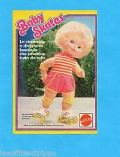 TOP986-PUBBLICITA'/ADVERTISING-1986- MATTEL - BABY SKATES