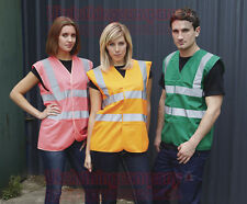 HIGH VIZ VISIBILITY VEST WAISTCOAT SAFETY UNISEX MENS WOMENS S M L XL 2XL 3XL