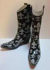 NOMAD WESTERN STYLE RUBBER BOOTS  WOMENS SZ 9 Yippy Fleur De Lis Rubber Cowgirl