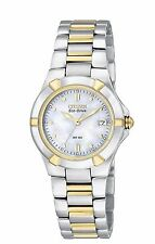 Citizen Eco-Drive Women's EW1534-57D Riva Two-Tone Bracelet 26mm Watch