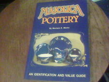MAJOLICA POTTERY Identification and Value Guide by Mariann K. Marks s7