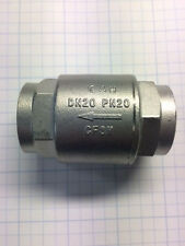 "3/4"" Stainless Steel  In Line Spring Check Valve, 150LB"