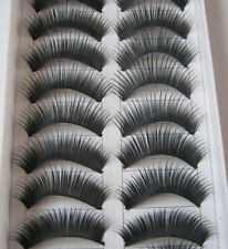 10 Pairs Black Natural Thick False Eyelashes Fake Eye Lashes
