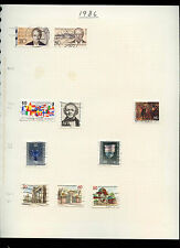 Germany Berlin 1986 Album Page Of Stamps #V3154