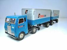 """SSS Tin Friction White Freightliner TC Transcon Truck Trailers 21"""" Exclnt Cond"""