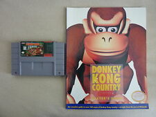 Donkey Kong Country w/ Player's Strategy Guide Super Nintendo SNES Free US Ship!