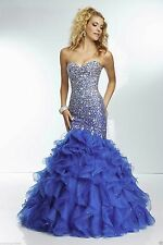 2015 Sweetheart Mermaid Evening Prom Ball Party Dresses Bridal Wedding Gown