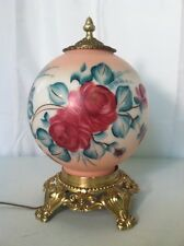 Electric Globe Light with Rose Detail Pretty in pink is what this is.... Lot 138