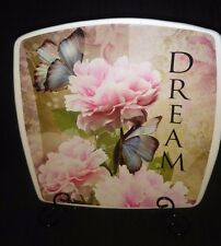 Dream Sentiment Decorative Plate With Metal Easel