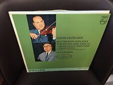 BEETHOVEN Sonatas for Piano & Violin LP PHILIPS Mono David Oistrakh Lev Oborin