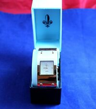 Very Nice Large Womens Watch w/Faux Jewels Leather Band Diane Gilman