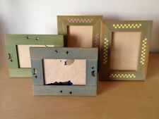 Usados - x4 Wood Frames Marcos de Fotos - Madera Wood Infantiles For Children