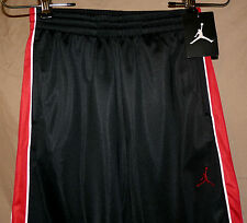 NIKE AIR JORDAN Boys track sweat pants black w/ red and white trim size L NWT