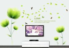 Green love flowers Home Bedroom Decor Removable Wall Stickers Decal Decoration