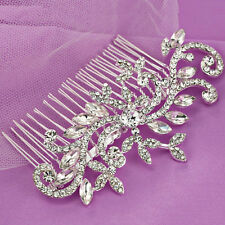 Bridal Wedding Crystal Rhinestones Diamante Hair Comb Clip Women's Accessories
