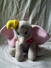 "Disney Parks 15"" Dumbo Plush Toy with Hat Neck Embellishment"