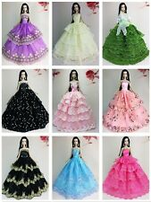 Lot 15 items= 5 Princes Dress/Wedding Clothes/Gown+10 shoes For Barbie Doll S03F