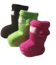 FESTIVAL BABY WELLIE BOOTS / BOOTEES, EASY KNITTING PATTERN, 3 SIZES