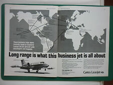 5/1975 PUB GATES LEARJET WICHITA LEARJET 35/36 AIRCRAFT FLUGZEUG ORIGINAL ADVERT