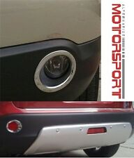 Nissan Qashqai 2007 - 2010 Chrome Front & Rear Fog Light Covers Surrounds Set