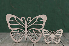 Wooden butterfly Shapes  wood craft Blank Gift tag plaque card making cut-out x3