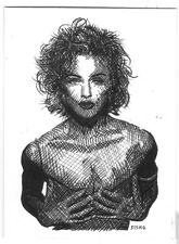 ACEO Sketch Card Pop Music Singer Madonna