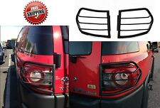 2007-2015 Toyota FJ Cruiser Black Steel Taillight Guards PAIR New Free Shipping