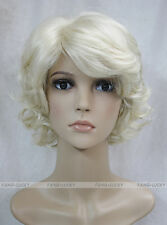Excellent Light Blonde Short Curly Women Ladies Daily wig FTTLD062