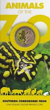 2012 Australian Unc $1 Coin - Animals of the Zoo - Southern Corroboree Frog