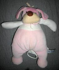 FAO BABY  plush SOFT PINK MUSICAL PUPPY DOG CRIB TOY    FIFTH AVENUE   EXCELLENT