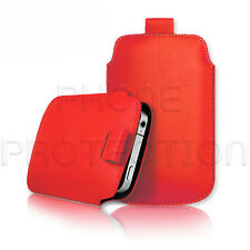 LEATHER PULL TAB SKIN CASE COVER POUCH FITS VARIOUS SONY ERICSSON  PHONES