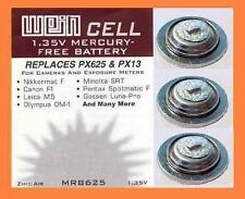 3 x Battery Original WeinCell MRB 625 - 1,35 V zinc/air - Replaces PX625 & PX13