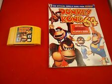 Donkey Kong 64 (Nintendo 64 1999) N64 w/ OFFICIAL Strategy Guide Book game WORKS
