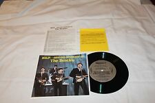 "The Beatles 7"" 33 1/3 Promo Record  with Script &  Prices for Book-HELP THE  OPE"