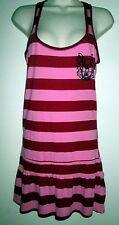 Victoria's Secret PHI BETA PINK Stripe TANK DRESS GOWN S Back Logo SLEEP Lounge
