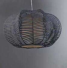 Tessuto grigio rattan ZUCCA a forma di soffitto SHADE lightshade 45cm Nuovo