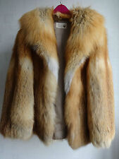 Womens Real Genuine Classic Fox Fur Jacket Size M L Stunning High Quality Fox