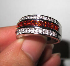 Elvis Presley 1967 Wedding Ring Band with 37 Cut Stones CZ Red Garnet Variant