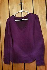 Womens Size M BDG Long Sleeve Purple V-neck Shirt