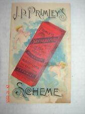 J P PRIMLEY'S SCHEME PREMIUM CATALOG WHOLESALE DRUGGIST  - GREAT ILLUSTRATIONS