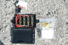 Motorcycle Universal Fuse Box replacement 4 fuse circuit fusebox OEM GLASS Style