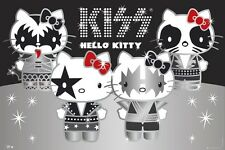 HELLO KITTY / KISS   Full Body     Fridge Magnet 2.5 x 3.5