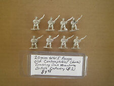 20mm ( 1/76 ) scale  Tumbling Dice WWI British Infantry advancing Helmets
