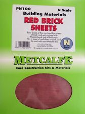 Metcalfe Kit PN100. Building Materials. Red Brick Sheets. N Scale.
