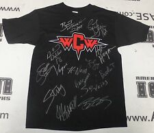 Hulk Hogan Ric Flair Sting Bret Hart +10 Signed WCW Champions Shirt PSA/DNA WWE