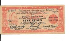 Philippines Emergency Guerrilla Currency 5 Pesos Iloilo City - # 135947