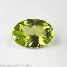 6x4mm FACETED OVAL GENUINE PARROT GREEN PERIDOT LOOSE GEMSTONE
