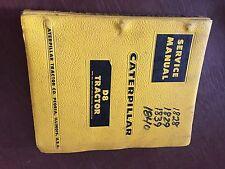 CATERPILLAR CAT CRAWLER D8 DOZER TRACTOR SERVICE MANUAL 35A 36A 46A